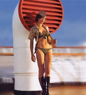 俄罗斯美女写真,泳装凸显性感身材