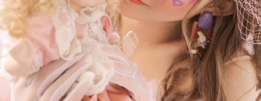 网红模特美女性感迷人粉色诱惑写真