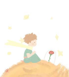 唯美漫画手机高清壁纸图片小王子和玫瑰