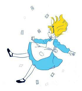 动漫女生手机高清壁纸图片坠落