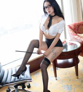 性感黑丝美女松果儿Victoria制服诱惑高清美图