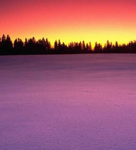 冬季唯美夕阳手机壁纸图片