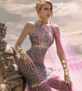 希腊女神风格连衣裙欧美美女高清桌面壁纸
