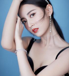 陈钰琪深V吊带时尚高清写真图片