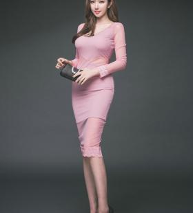 韩国粉红高挑美女身材火辣诱惑撩人写真图片