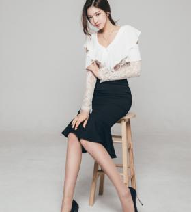 韩国美腿模特清纯萌妹纸制服诱惑性感图片