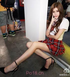 长腿美女小姐姐Miya蜜娅活动现场高清写真照片