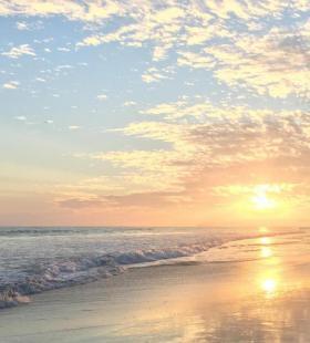 大海晨阳唯美自然风光手机高清壁纸
