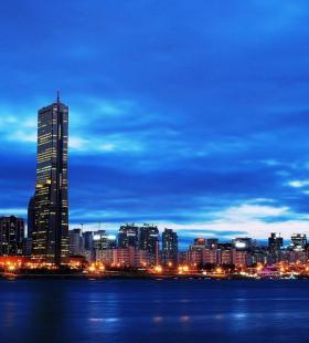 韩国首尔唯美夜景风光电脑桌面壁纸图片