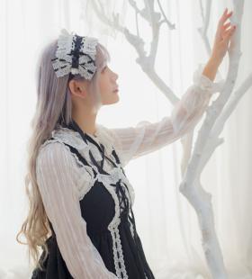 蕾丝美女女仆cos唯美性感私房写真图片