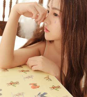 清纯唯美美女夏日清凉私房写真手机壁纸图片