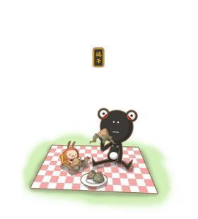 吃粽子的小黑娃和小蚂蚁图片手机壁纸