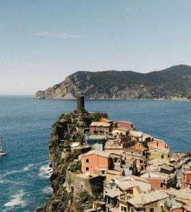 唯美欧美海边小镇优美自然风光图片手机壁纸