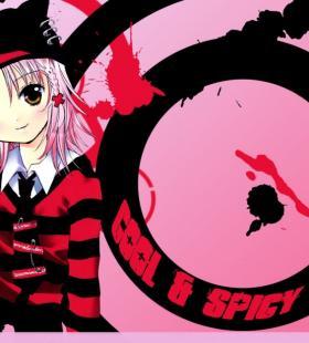 守护你的甜心少女动漫黑红风格主题高清桌面壁纸图片