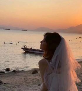 穿着白色婚纱的温柔女生气质好看抖音头像图片