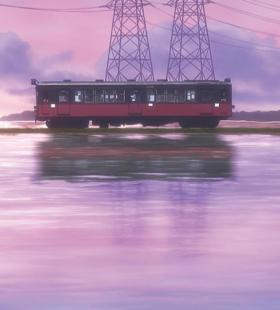 紫色主题风景浪漫手绘插画手机壁纸图片