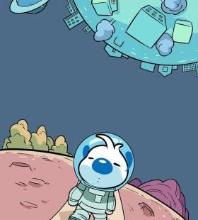 爱冒险的辛巴狗未来战士卡通手机壁纸图片