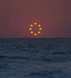 唯美创意海洋日落日出风景高清手机壁纸图片