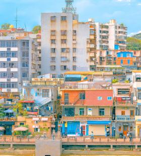 渔村超美自然风景高清手机壁纸图片