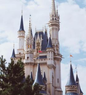 日本迪士尼城堡高清建筑风景手机壁纸图片