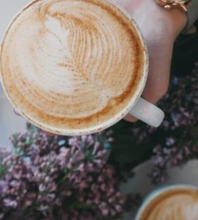 唯美好看的咖啡花高清手机壁纸图片