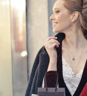 购物中的美女性感高清图片写真大全