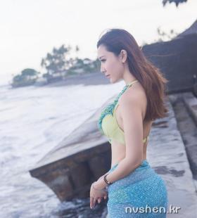 性感大胸泳装美女淼淼度假高清写真图片