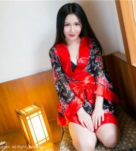 性感巨乳美女唐雨辰和服造型诱人高清写真图片