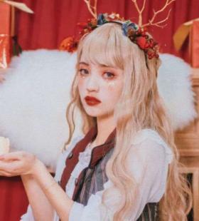 圣诞装可爱少女唯美头像图片大全