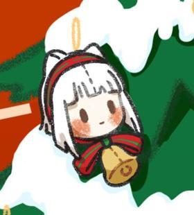 简单可爱的圣诞主题卡通人物头像