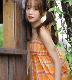 田园风格元气清纯少女唯美写真图片