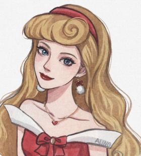 好看卡通迪士尼公主圣诞主题微信头像大全