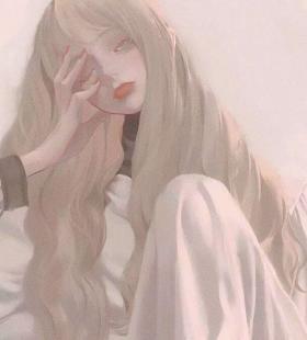 卡通手绘油画风超美动漫女生头像大全