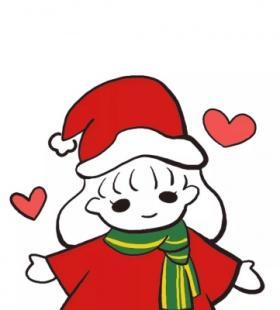 卡通圣诞主题超可爱情侣微信高清头像大全