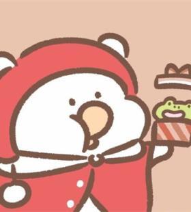 圣诞节卡通可爱小清新情侣QQ头像图片大全
