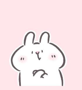 可爱少女粉背景小兔子简约微信头像大全图片