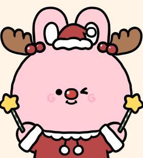 圣诞风格小动物卡通可爱头像大全