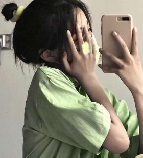 绿色系超好看小清新唯美女生头像