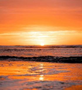 超好看的海景夕阳风景高清手机壁纸图片